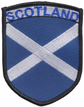 Scotland Saltire Large Shield Embroidered Patch (a398)